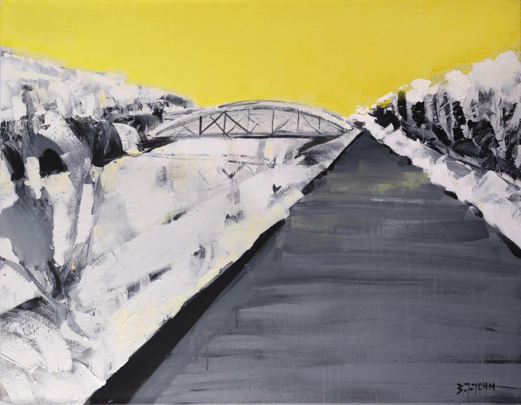"""""""Pejzaż z żółtym niebem"""" Obraz nr 143"""