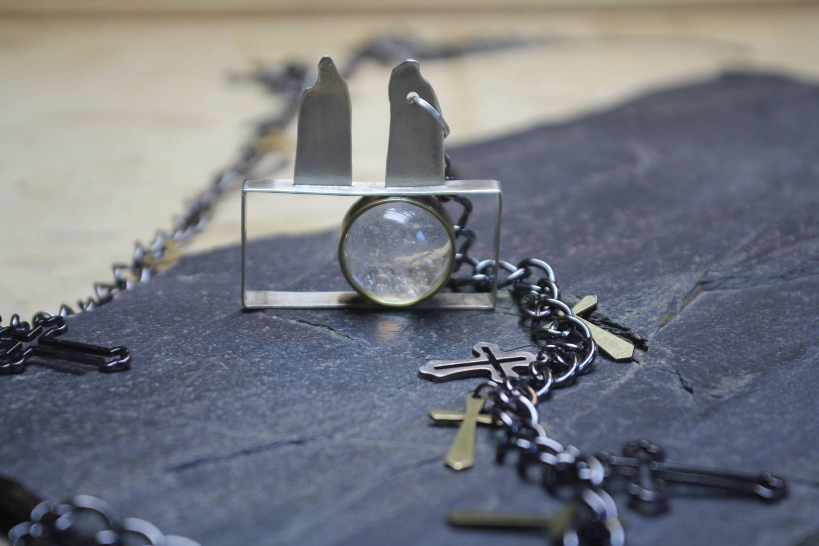 Naszyjnik Srebro Kryształ -nr kat 20