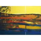 """""""Pejzaż z żółtym  niebem i chmurą""""- Obraz nr 160"""