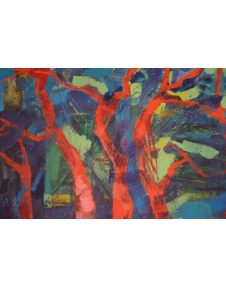 Pejzaż las, drzewa - obraz 12