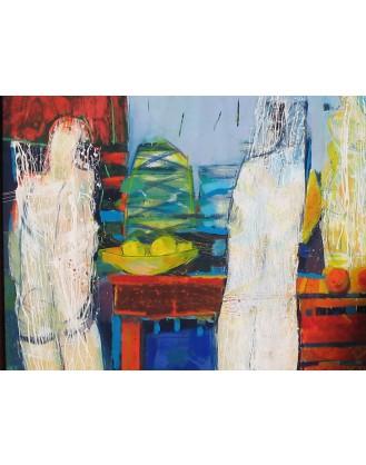 """""""Przy stole"""" - Obraz 50"""