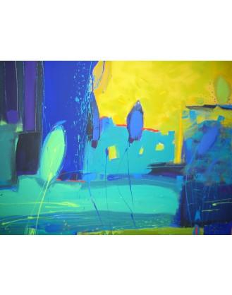"""""""Pejzaż z żółtym niebem"""" - Obraz 66"""